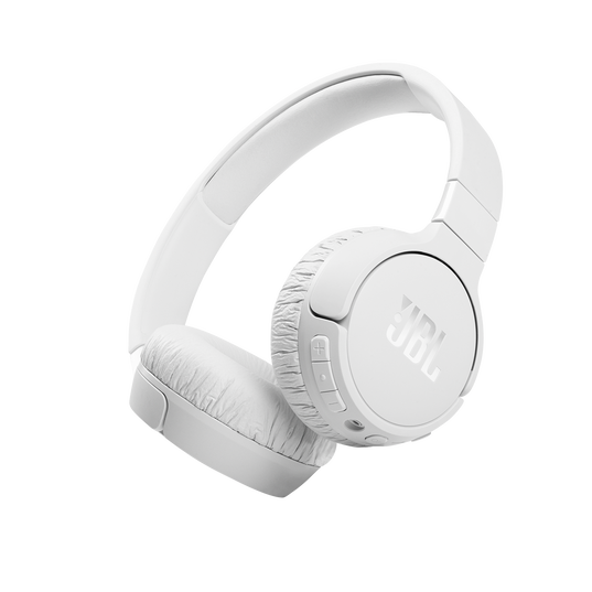JBL Tune 660NC - White - Wireless, on-ear, active noise-cancelling headphones. - Hero