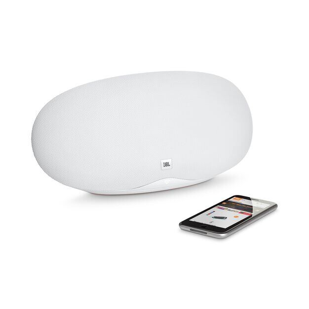 JBL Playlist - White - Wireless speaker with Chromecast built-in - Detailshot 1