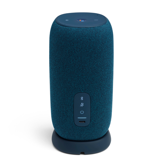 JBL Link Portable - Blue - Portable Wi-Fi Speaker - Back