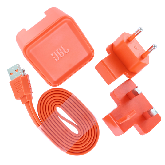 USB Adapter US, EU and UK  incl. charging cable 100cm, Flip, Charge, Pulse - Orange - Power adaptor and charging cable US, EU and UK - Hero