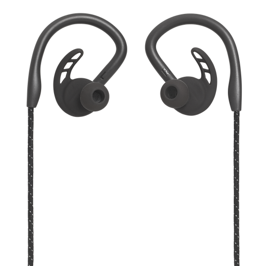 UA Sport Wireless PIVOT - Black - Secure-fitting wireless sport earphones with JBL technology and sound - Front