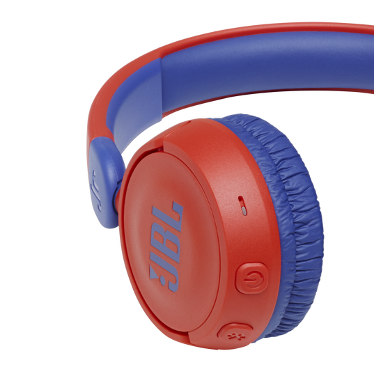 JBL Jr310BT - Red - Kids Wireless on-ear headphones - Detailshot 3