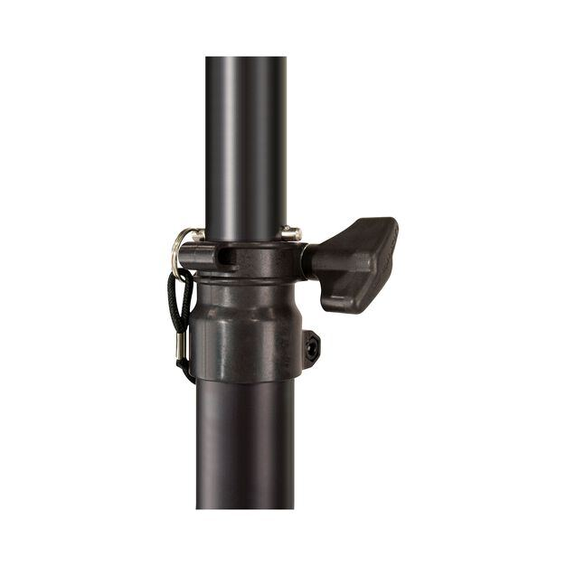 JBL Tripod Stand (Manual Assist) - Black - Aluminum Tripod Speaker Stand with Secure Locking Pin and 150 lbs Load Capacity - Detailshot 3