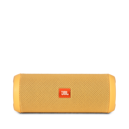 JBL Flip 3 - Yellow - Splashproof portable Bluetooth speaker with powerful sound and speakerphone technology - Front