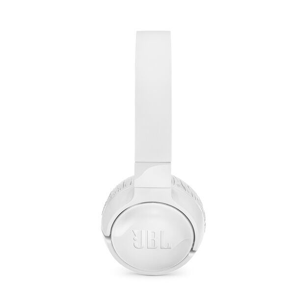 JBL TUNE 600BTNC - White - Wireless, on-ear, active noise-cancelling headphones. - Left