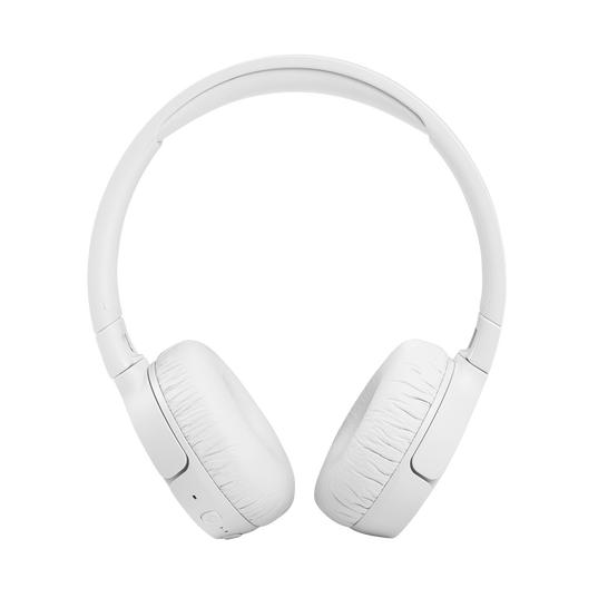 JBL Tune 660NC - White - Wireless, on-ear, active noise-cancelling headphones. - Front