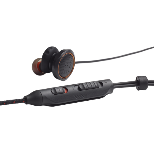 JBL Quantum 50 - Black - Wired in-ear gaming headset with volume slider and mic mute - Detailshot 1